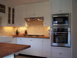 Double Wall Oven Cabinet Kitchen Kraftmaid Kitchen Cabinets Ideas Using Brown Cherry