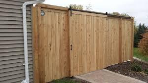 Cedar Barn Door Valley Estate Fence With Barn Style Door