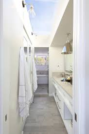 galley bathroom designs galley style bathroom with glass ceiling cottage bathroom