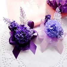 handmade flower bracelet images New prom fabric handmade artificial lavender 10pcs boutonniere jpg