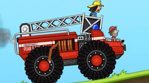 hill climb racing monster truck firetruck hill climb racing games cartoon сars for kids