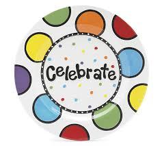 celebrate plate 11 diameter ceramic celebrate plate
