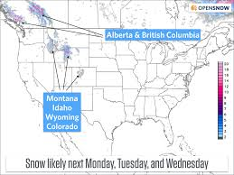 Snow Forecast Map Snow Forecast For Late September Opensnow
