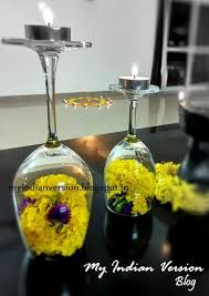 diwali decoration at my home u2013 wine glass diya u2026 happy diwali 2017