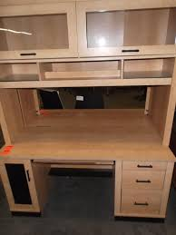 Used Computer Desk With Hutch Hoppers Office Furniture Used Desks