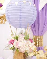 hot air balloon centerpiece hot air balloon centerpiece for baby mara s shower things i ve