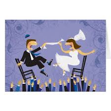 Jewish Wedding Chair Dance Hora Chair Dance Jewish Wedding Thank You Card Zazzle Com