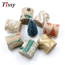 aliexpress com buy 1pc 2m christmas burlap jute burlap rolls