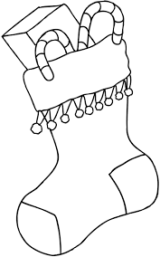 christmas stocking coloring page free download