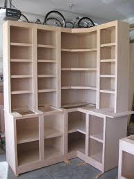 Low Corner Bookcase Shelves Sensational Charming Corner Bookcase With Doors