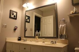framed bathroom mirror ideas bathroom cabinets marvelous white polished faux wood frame wall