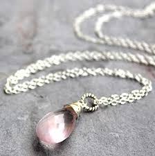 sterling silver quartz necklace images Pendant rose quartz necklace sterling silver pink jpg