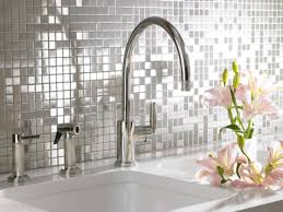 Backsplash Tile For White Kitchen Stainless Steel Backsplash Tiles Trends And White Kitchen With