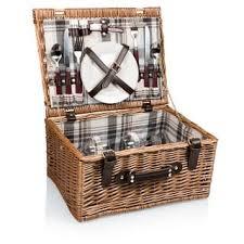 Picnic Basket Set For 4 Highlander Picnic Basket Set Service For 4 Free Shipping Today