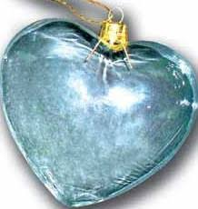 clear glass ornaments hearts 4 1 2 x 3 16 4 packs 64 total pieces