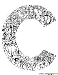 intricate alphabet coloring pages u0027m print