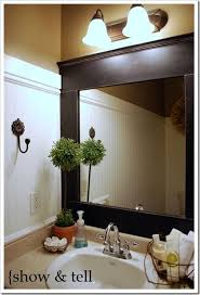 framing bathroom wall mirror diy mirror frame i heart diy pinterest diy mirror bathroom