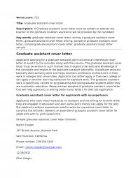 cover letter assistant lecturer cover letter teaching assistant