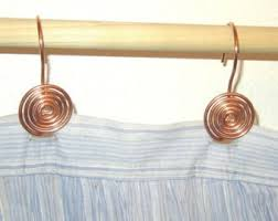 Shower Curtain Wire 12 Handcrafted Solid Copper Swirl Shower Curtain Hooks Home