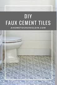 Powder Room Flooring Cement Tiles How To Diy Faux Cement Tiles With A Stencil