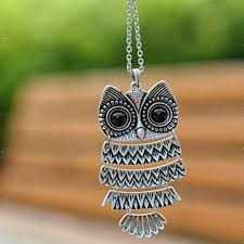 necklace with owl pendant images Cute owl necklace with big eye pendant vintage necklace owl jpg