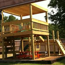 Backyard Clubhouse Plans by Kids New Clubhouse And Playground Kiddos Love Pinterest