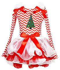 christmas dress xmas tree red white chevron l s shirt petal skirt