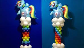 my little pony balloon column tutorial rainbow dash youtube