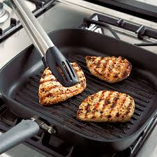 Non Stick Pan For Induction Cooktop Executive Nonstick Square Grill Pan Shop Pampered Chef Us Site