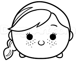 learn draw tsum tsum anna frozen disney characters