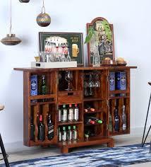 Oak Bar Cabinet Buy Oriel Solid Wood Bar Cabinet In Honey Oak Finish By Woodsworth