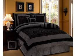 Mens Bed Set Black Gray Masculine Bedding With 8pc Size Mens Bed
