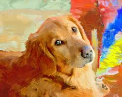 golden retriever art dog art all you need is love dog lover