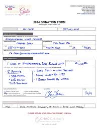Charitable Contribution Receipt Template Silent Auction Forms The Essential List