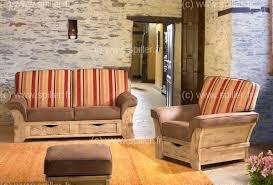 canapé cuir et bois rustique canape rustique leleu cassis votre spécialiste ameublement dans