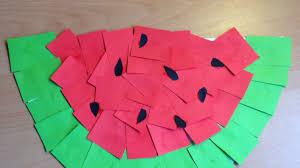 make a fun kids paper watermelon diy crafts guidecentral youtube