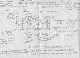 Transformer Coupled Transistor Amplifier Schematic 25 Watt Power Amplifier