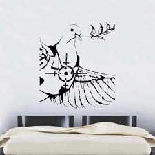 dove of peace wall sticker banksy dove of peace wall sticker zoom