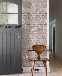 Whitewashed Wood Paneling Whitewashed Vintage Brick Wallpaper Peel And Stick Wood Wall