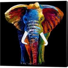 eclectic elephant ring holder images Shop clara summer 39 great elephant 39 canvas art on sale free jpg