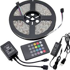 rgb led strip light kit 5050 colour changing led tape sound music