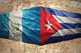Cuban Flag Images Waving Guatemalan And Cuban Flags On The Of The Political Map