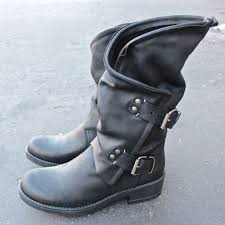 american biker boots coolway alida leather motorcycle boots black leather
