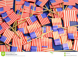 White Blue Orange Flag Abstract Background Of Usa Stars And Stripes Red White And Blue