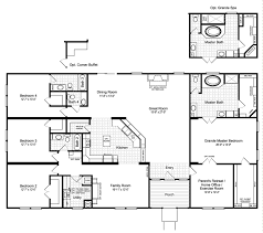 manufactured floor plans the hacienda iii 41764a manufactured home floor plan or modular