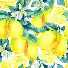 seamless lemon pattern watercolor lemon fruit branch with leaves seamless pattern on
