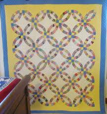 Double Wedding Ring Quilt by Double Wedding Ring Quilt With Border Mint Sold Cindy Rennels