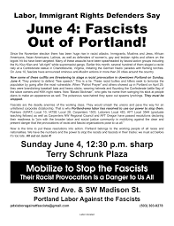 Mobilize Anti Flag All Out On June 4 Fascists Out Of Portland Class Struggle