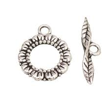 Toggle Clasps For Jewelry Making - click to buy u003c u003c 6sets flower leaf shape toggle clasps tibetan