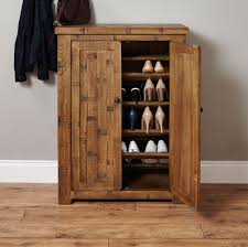 Solid Oak Furniture Heyford Rough Sawn Solid Oak Furniture Shoe Cupboard